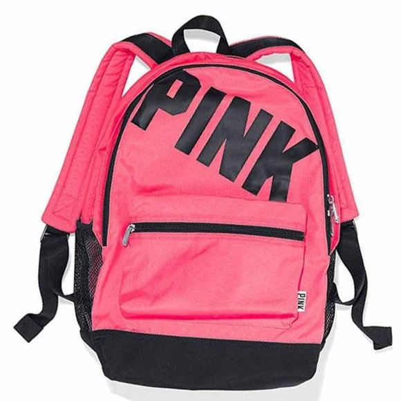 PINK Victoria's Secret Handbags - Victoria's Secret PINK Logo Neon Campus Backpack